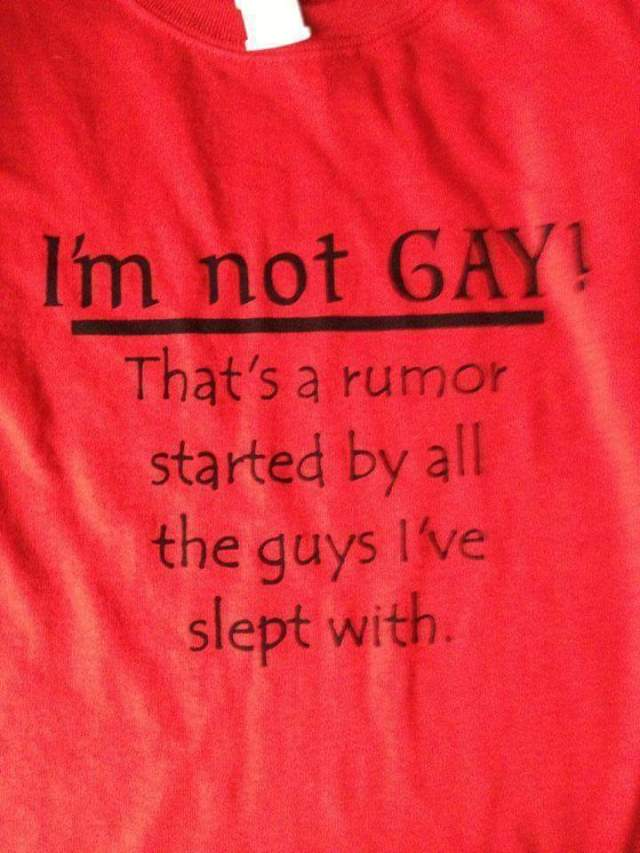 I'm Not Gay Rumor T Shirt