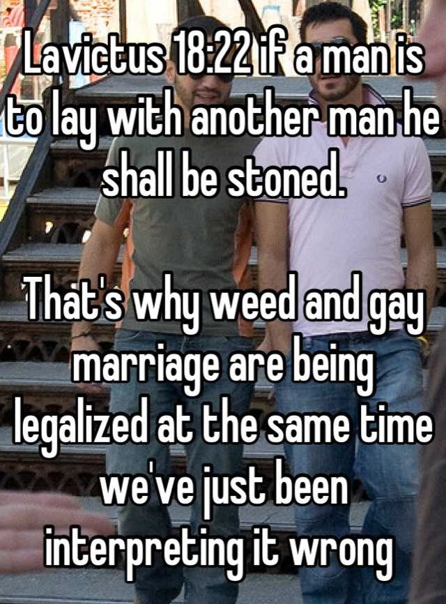 Weed Gay Marriage