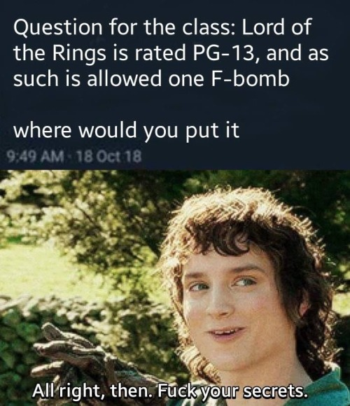 Lord Of Rings F Bomb